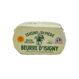 Beurre demi-sel 250gr d'ISigny